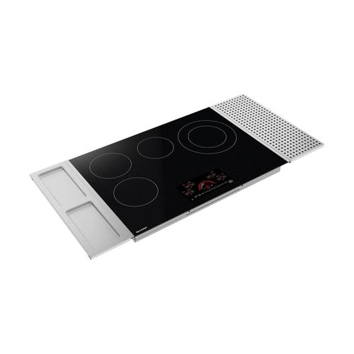 "30"" Drop-In Radiant Cooktop with Side Accessories"