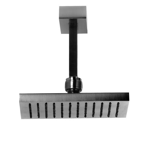 """Gessi - Ceiling-mounted adjustable shower head with arm 1/2"""" connections Projection from ceiling 10-9/16"""" Max flow rate 1"""