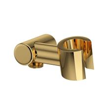 Handshower Holder with Outlet for Shower Arm Connection - Italian Brass