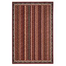 Tribute-Bazaar Deep Red Machine Woven Rugs