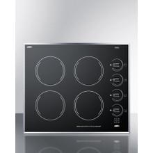 """See Details - 24"""" Wide 4-burner Electric Cooktop In Smooth Black Ceramic Glass Finish"""