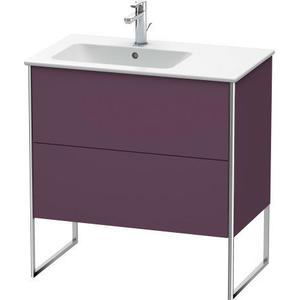 Vanity Unit Floorstanding, Aubergine Satin Matte (lacquer)