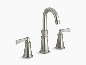 Vibrant Brushed Nickel Widespread Bathroom Sink Faucet Product Image