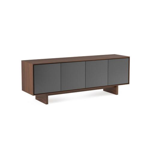 Quad Width Media Cabinet 8379 Gfl in Toasted Walnut