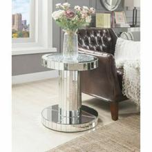 ACME Ornat End Table - 80302 - Mirrored & Faux Stones