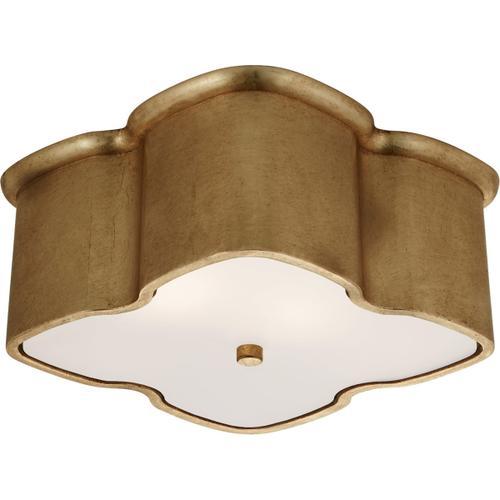 AERIN Bolsena 2 Light 12 inch Gild Flush Mount Ceiling Light