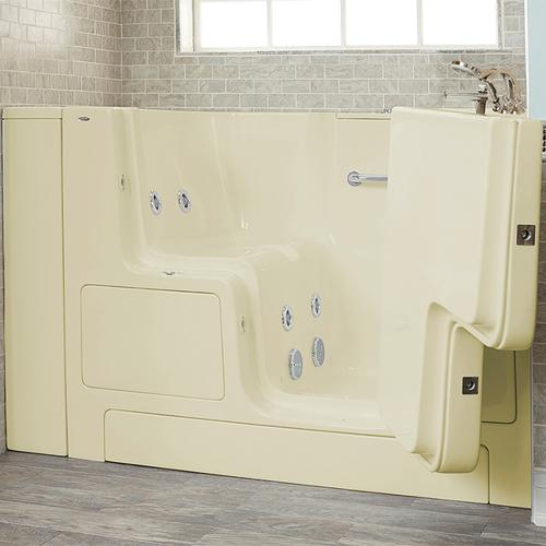 Gelcoat Premium Series 32x52 Whirlpool Walk-in Tub with Outward Opening Door, Right Drain  American Standard - Linen