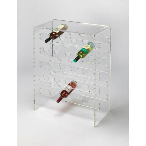 Butler Specialty Company - Bring your wine cellar out of the dark ages with this clear, lucite wine rack. Create an open, reflective home for your favorite vintages, whether you are a collector, a world-class chef or an amateur connoisseur. Displays up to 20 bottles.