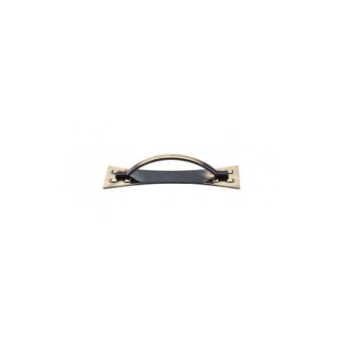 Mission Pull & Backplate 3 3/4 Inch (c-c) - Dark Antique Brass