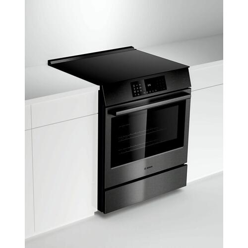 800 Series Electric Slide-in Range 30'' Black Stainless Steel HEI8046U