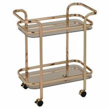 See Details - Zedd 2-Tier Bar Cart in Gold