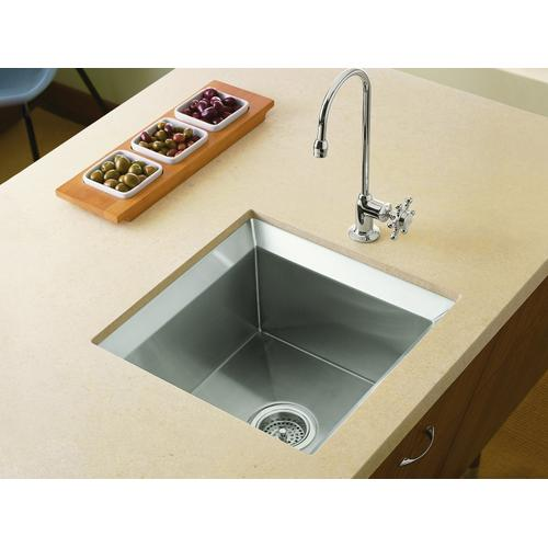 "18"" X 18"" X 9-1/2"" Undermount Bar Sink With Rack and Cutting Board"