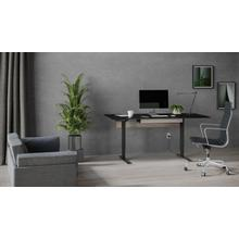 """View Product - Stance 6652 Standing Desk  66""""x30"""" in Black"""