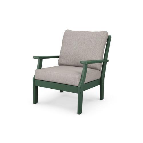 Green & Weathered Tweed Braxton Deep Seating Chair