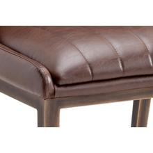 See Details - Halden Dining Chair - faux leather: vintage cognac