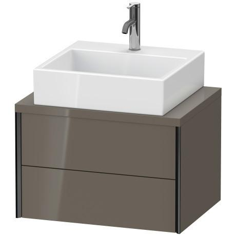 Vanity Unit For Console Compact, Flannel Gray High Gloss (lacquer)