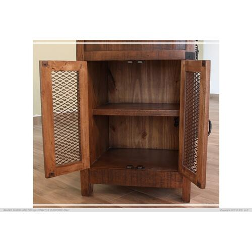 3 Drawer Kitchen Island w/2 sliding doors, 2 Mesh doors on each side - functional casters.