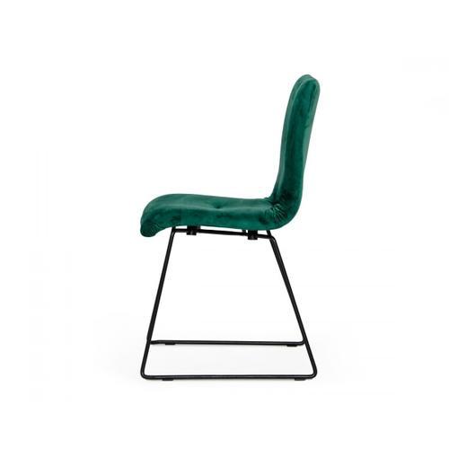 VIG Furniture - Modrest Yannis - Modern Green Fabric Dining Chair (Set of 2)