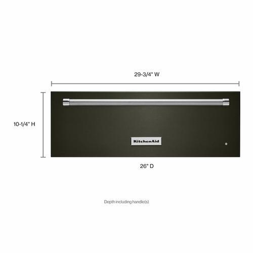 KitchenAid - 30'' Slow Cook Warming Drawer with PrintShield™ Finish - Black Stainless