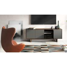 See Details - Octave 8379GFL Media Console in Toasted Walnut