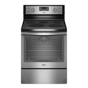Whirlpool6.4 Cu. Ft. Freestanding Electric Range With Aqualift® Self-Cleaning Technology