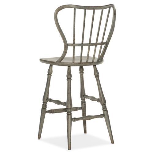 Hooker Furniture - Ciao Bella Spindle Back Bar Stool-Speckled Gray