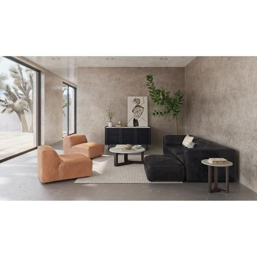 Moe's Home Collection - Luxe Ottoman Antique Black