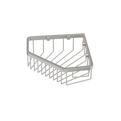 """Corner Shower Basket 8 1/2""""W in Satin Nickel"""