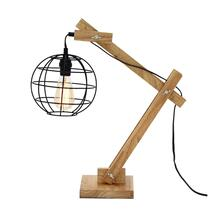 "WOOD DESK LAMP W BULB 23""H"