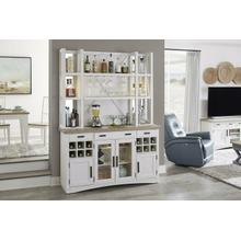 AMERICANA MODERN DINING 2pc 66 in. Buffet / Bar Open Hutch with quartz insert