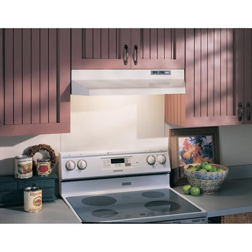 Gallery - Broan® 36-Inch Ducted Under-Cabinet Range Hood, 210 MAX Blower CFM, Bisque