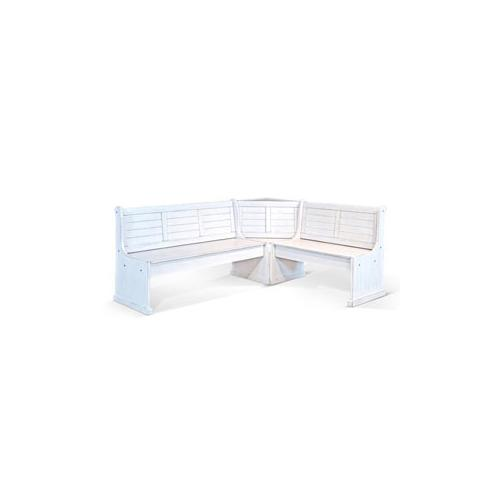 Bayside Long Bench & Corner Back, Wood Seat