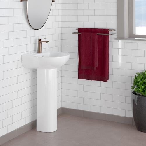 Banks Pedestal Lavatory - Single-Hole