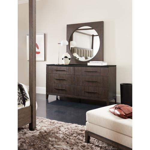 Bedroom Miramar Aventura Raphael Six-Drawer Stone Top Dresser