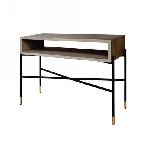 VIG Furniture - Modrest Walker Modern Concrete & Metal Console Table