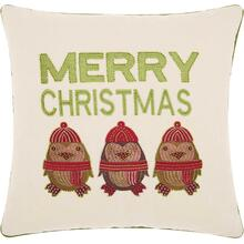 "Kathy Ireland X-mas St052 Natural 16"" X 16"" Throw Pillow"
