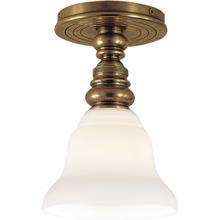 E. F. Chapman Boston 1 Light 6 inch Hand-Rubbed Antique Brass Flush Mount Ceiling Light