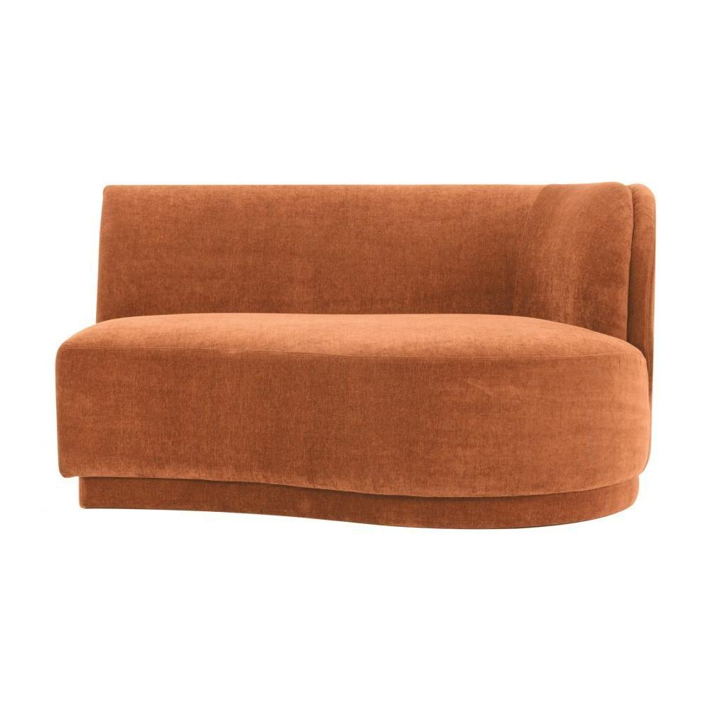 See Details - Yoon 2 Seat Chaise Right Rust