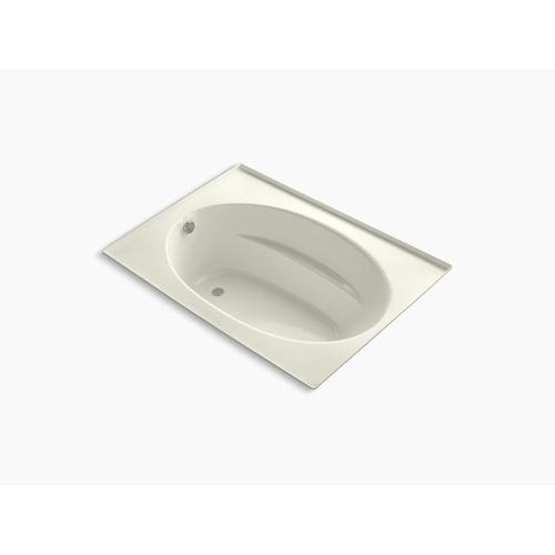 """Biscuit 60"""" X 42"""" Alcove Bath With Integral Flange and End Drain"""