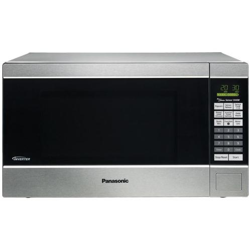 Panasonic - Family Size 1.2 Cu. Ft. Counter Top Microwave Oven with Inverter Technology