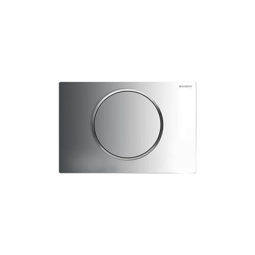 Sigma10 Flush plates for Sigma series in-wall toilet systems Polished chrome with matte chrome accent Finish