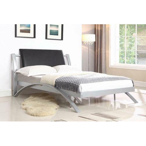 Product Image - Leclair Contemporary Black and Silver Youth Full Bed