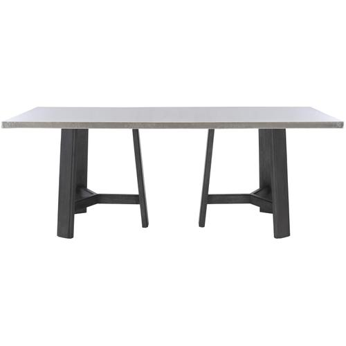 Gallery - Harding Dining Table in Midnight Black Finishes Available Cocoa (CN1) Portobello (PN1) Smoke (SN1) Description Rectangular table top wrapped in stainless steel Three legged non-wire-brushed wood base Adjustable glides Note: Due to size of table top, must be used with two (2) 305-224N bases Options Note: Optional glass top available, but recommeneded to prevent scratching of metal top. Order with 305-223G. To order in the available non-wire brushed finishes, specify the 3-digit finish number. Also available in wire brushed finishes - Glacier White, Midnight Black and Weathered Greige. See 305-223 & 305-224W . Specifications subject to change without notice. Due to differences in screen resolutions, the fabrics and finishes displayed may vary from the actual fabric and finish colors. ALL RELATED PRODUCTS