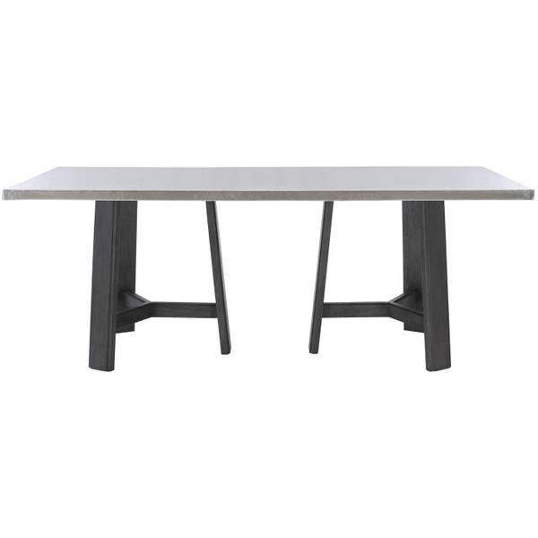 See Details - Harding Dining Table in Midnight Black Finishes Available Cocoa (CN1) Portobello (PN1) Smoke (SN1) Description Rectangular table top wrapped in stainless steel Three legged non-wire-brushed wood base Adjustable glides Note: Due to size of table top, must be used with two (2) 305-224N bases Options Note: Optional glass top available, but recommeneded to prevent scratching of metal top. Order with 305-223G. To order in the available non-wire brushed finishes, specify the 3-digit finish number. Also available in wire brushed finishes - Glacier White, Midnight Black and Weathered Greige. See 305-223 & 305-224W . Specifications subject to change without notice. Due to differences in screen resolutions, the fabrics and finishes displayed may vary from the actual fabric and finish colors. ALL RELATED PRODUCTS