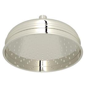 "Polished Nickel 8"" Bordano Rain Anti-Calcium Showerhead"