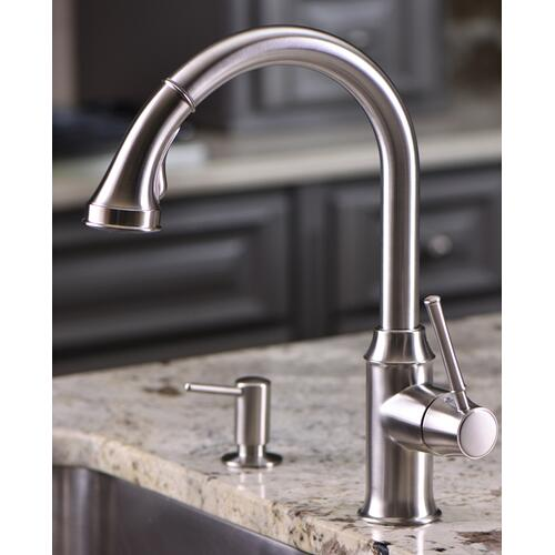 Polished Nickel HighArc Kitchen Faucet, 2-Spray Pull-Down, 1.75 GPM