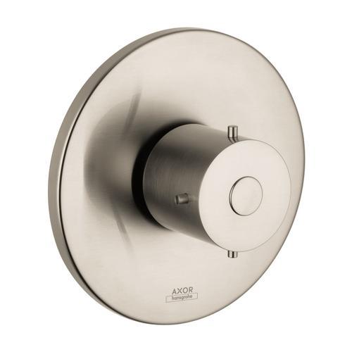 Brushed Nickel Shut-off valve for concealed installation