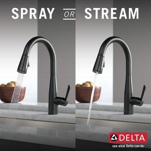 9113bldst In Matte Black By Delta Faucet Company In Raleigh Nc Matte Black Single Handle Pull Down Kitchen Faucet