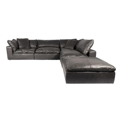 Moe's Home Collection - Clay Dream Modular Sectional Nubuck Leather Black