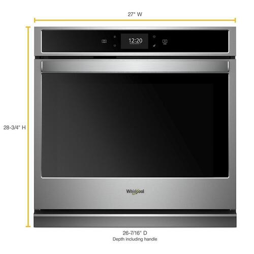 Whirlpool - 4.3 cu. ft. Smart Single Wall Oven with True Convection Cooking